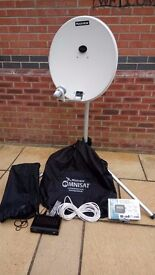 Maxview Satelite Dish, Adjustable Stand, Sat Finder, Free Sat Box & Accessories As New Condition