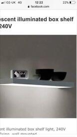 Glass Lit Floating Shelves