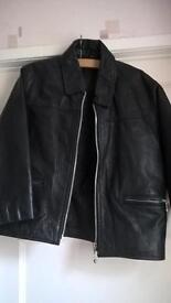Kids black leather jacket –size 30 - £10
