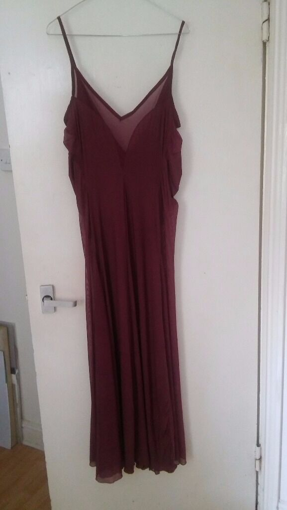 Purple maxi dress with sheer panels size 12in Montpelier, BristolGumtree - Purple maxi dress with sheer panels in the side and neckline and spaghetti straps size 12