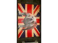 union jack bulldog canvas picture