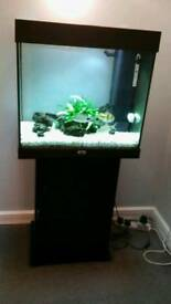 Jewel lido 120 litre Aquarium in black with cabinet in excellent condition