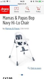 High chair by Mama's and Papa's ( high -lo chair )
