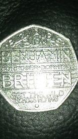Rare Benjiman Britten coin.