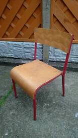 Vintage childrens stacking chairs genuine 1960s