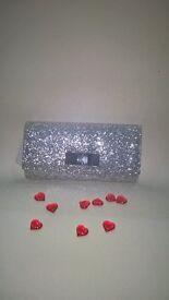 Kurt Geiger Carvela Silver Clutch Bag