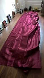 Burgundy polyester lined curtains 224cm-230cm