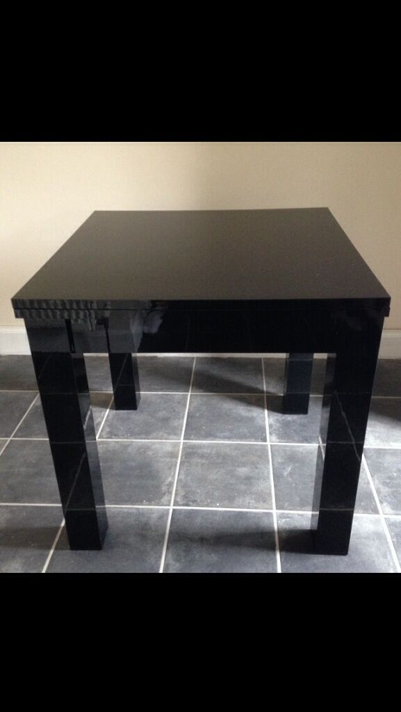 Next Milano dining table black gloss finish and 4 black  : 86 from www.gumtree.com size 577 x 1024 jpeg 41kB