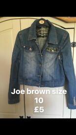 Size 10 denim jacket joe brown