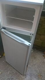 silver medium fridge freezer.....cheap free delivery