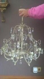 Laura Ashley 8 arm lavenham chandelier antique gold