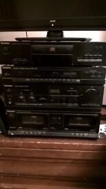 Technics Stereo system - CD/ radio/ tape deck; option for adding turntable. £40 ono