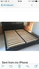 Super king size leather bedframe