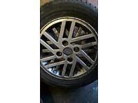 Junior Cosworth Mrk 4 Escort alloy wheels and tyres