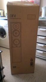 New in box cherry rose Bowers & Wilkins CM4 Floor standing speakers B&W