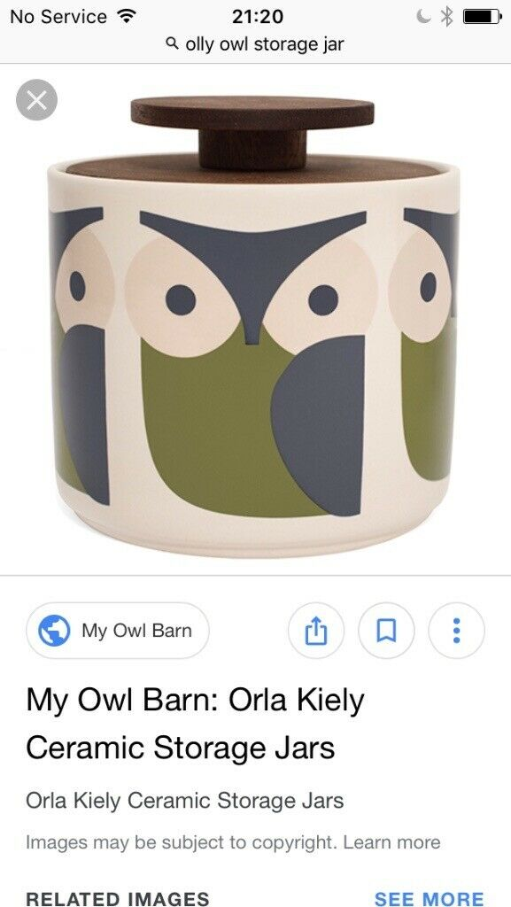 Wanted Orla Kiely Owl Storage Jar With Wooden Lid In Norwich