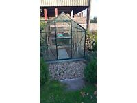 Greenhouse for sale, 8ft by 6ft. Tempered glass. Excellent condition.