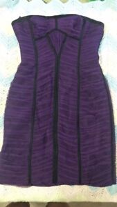 Size 6 BCBG purple tube dress