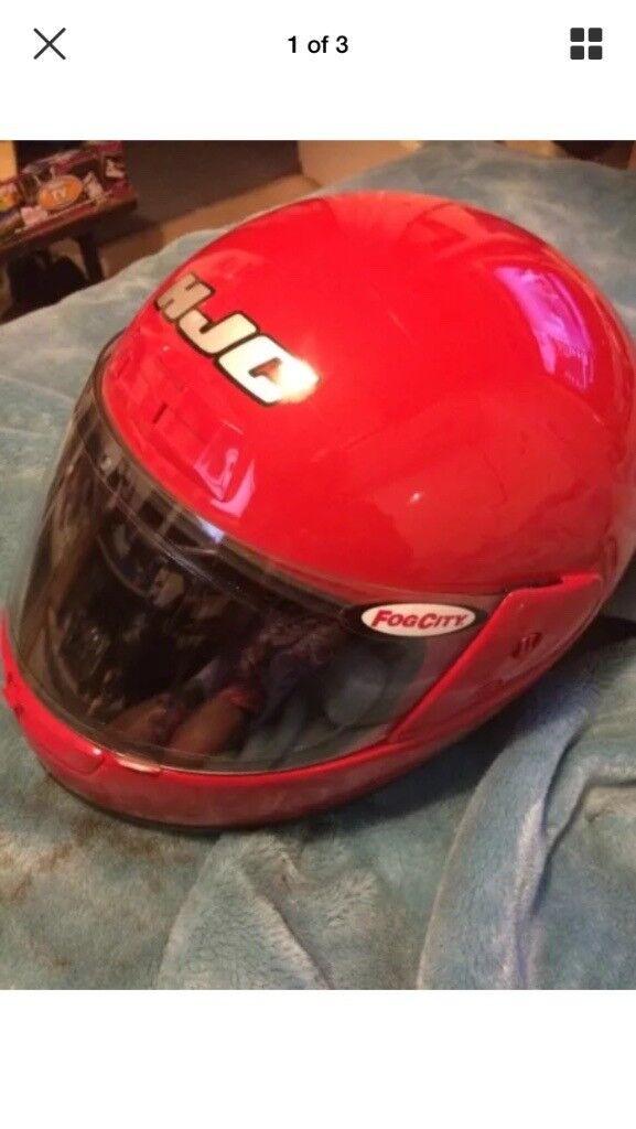 Red hjc zf7 motorbike helmet motorcycle