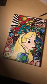 Shrooms piece Alice in wonderland
