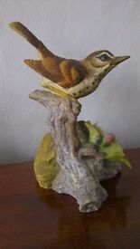 SONG THRUSH & WHITE THROAT bird Finest Porcelain Ornaments