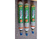 3 sodastream exchange gas bottles