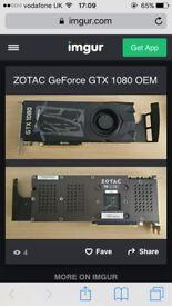 NVIDIA ZOTAC GEFORCE GTX 1080 8GB Graphics Card Brand New
