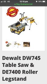 Dewalt table saw and stand