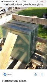 SOLD. Greenhouse glass £1 a sheet