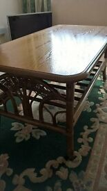 Good Condition Coffee Table. Bamboo Style Legs