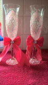 Wedding glasses. New. Handmade.
