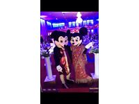 Micky mouse and Minnie mouse entertainer