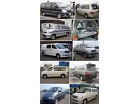 Wanted Mazda bongo Ford Frieda Toyota granvia Volkswagen transporter day van camper van top prices