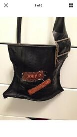 Genuine Joey D Black Leather Bag - NEW