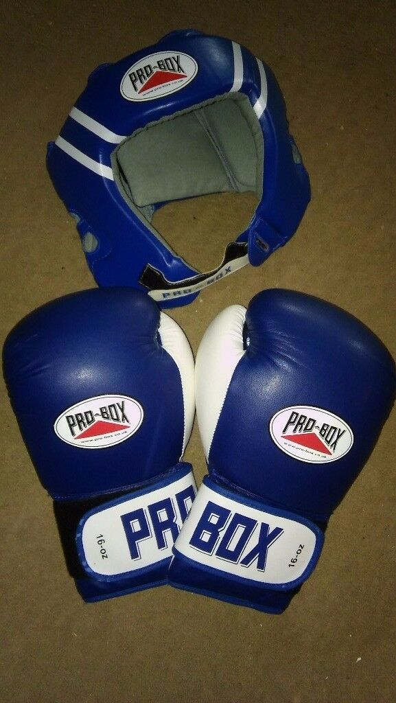 Pro-box 16oz professional boxing gloves and headguard