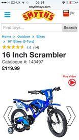 Scrambler bike 16 inch