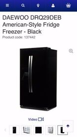 Daewoo American Style Fridge Freezer + over 4 years warranty