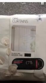 New Next Cream Confetti Curtains