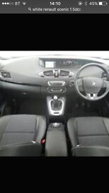 Renault scenic 1.5dci dynamique (60 reg) in white