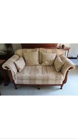 SUITES - STYLISH 2 SEATER SOFA, 2 MATCHING ARMCHAIRS AND A FOOTSTOOL - EXCELLENT CONDITION