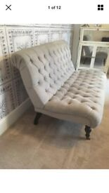 Herringbone Grey Studded Sofa