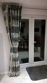 Patio Door Curtain and 3 pattern matched roman blinds
