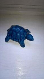 Blue China Tortoise Made & Bought In Bermuda Excellent Condition