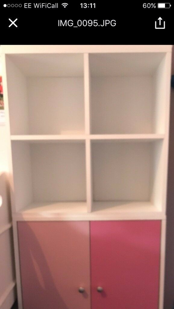 Pink & White Cube Storage Units