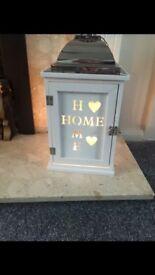 BNIB Wooden 'Home' Lantern