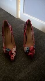 Beautiful summer shoes,size 4.5 ,worn once as too high ,immaculate condition.