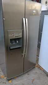 whirlpool American fridge freezer silver...cheap Mint free delivery