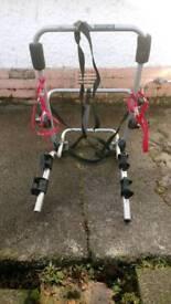 Bike carrier for spare wheel