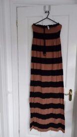 Denim Co Strapless Maxi Dress, Size 12