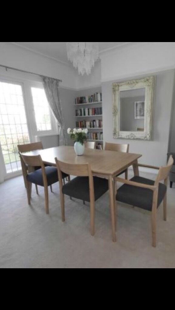 Marks and Spencer dining table and 6 chairs